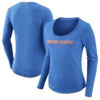 Boise State Broncos Nike Women's Team Slub Long Sleeve Performance T-Shirt - Heathered Royal