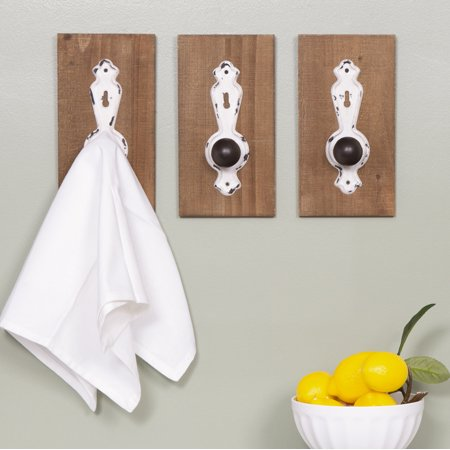 Gallery Solutions Rustic 3 Piece Door Knob Wall Hook Hanger Set - Halloween Door Knob Hangers