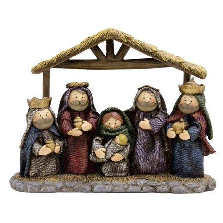 Puleo 173-5014X Christmas Child Nativity Set, Resin, Multicolored, 8