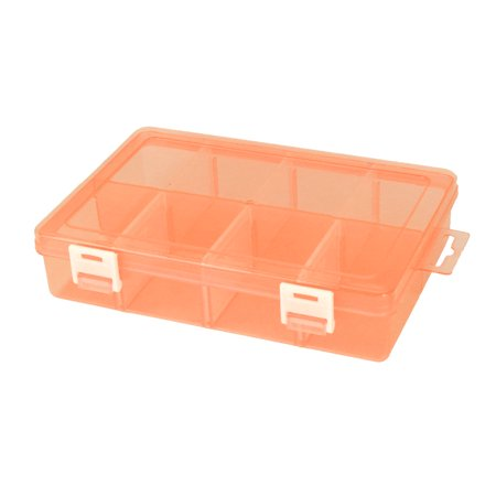 Home Plastic 8 Compartments Pills Candy Beads Trinket Holder Storage Box (African Superman 6 Boxes Of 8 Pills)