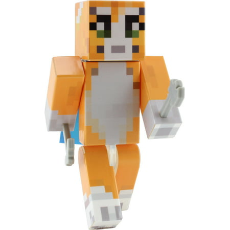 Orange Cat Action Figure Toy By Endertoys  Not An Official Minecraft Product