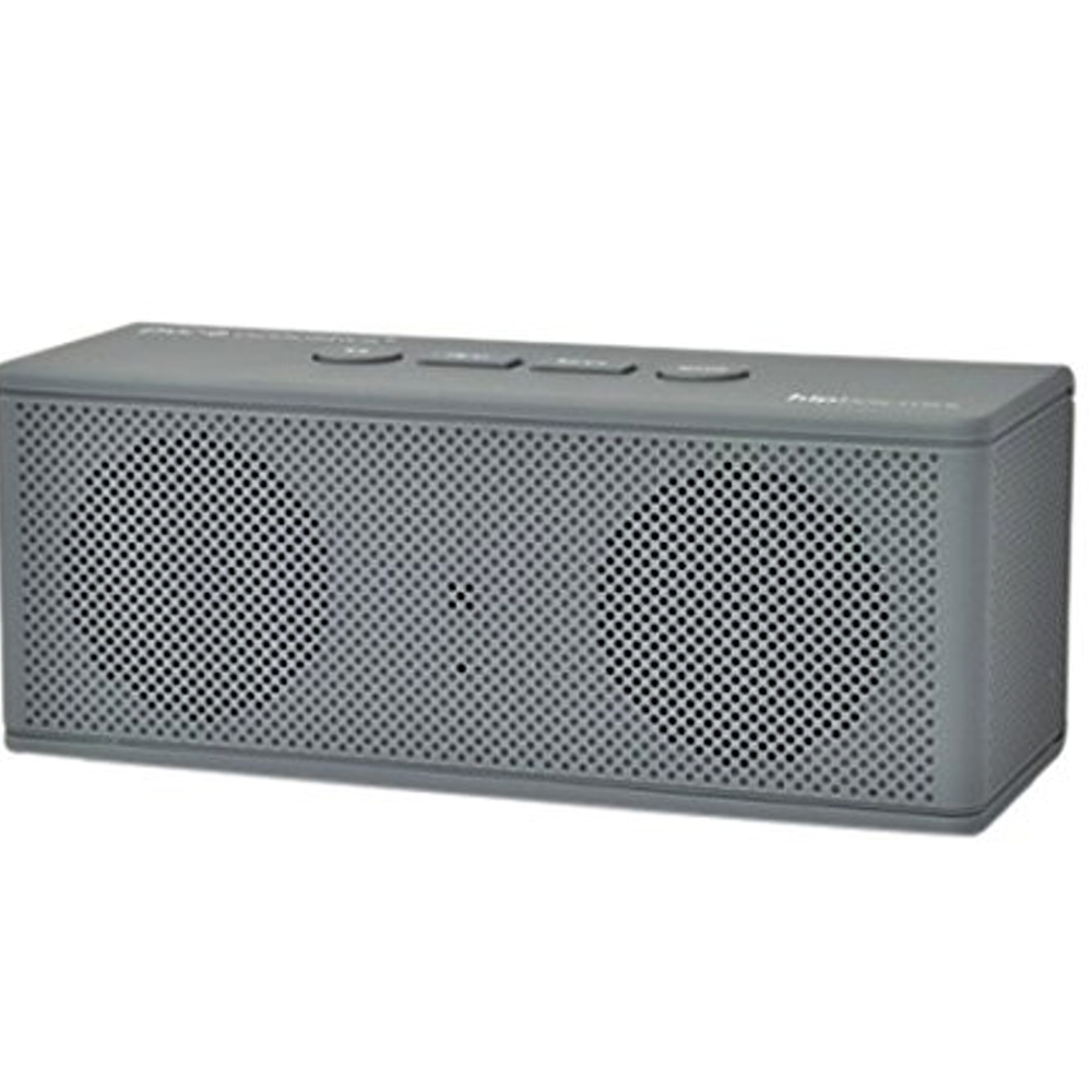 Wireless Bluetooth Speaker Clear Powerful Sound HipBox-Mini Speaker With AUX FM Radio- Gray