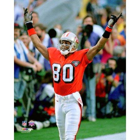 Jerry Rice Super Bowl XXIX Action Photo Print (Jerry Rice Photograph)