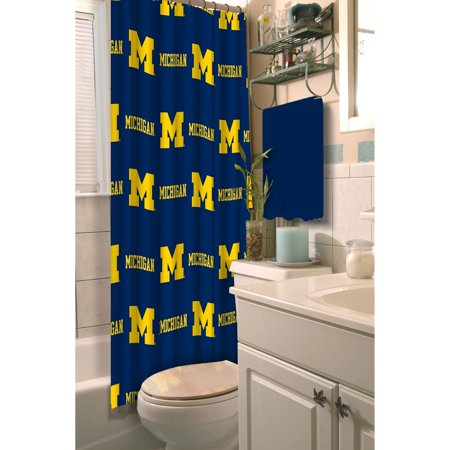 NCAA Michigan Shower Curtain 1 Each