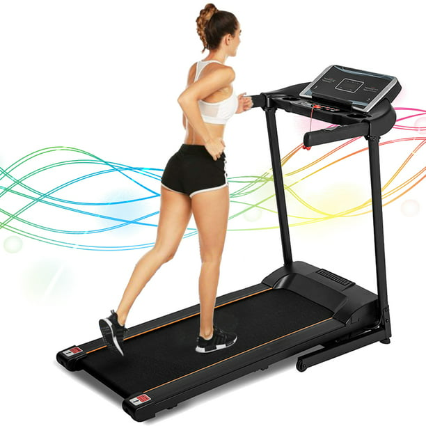 Electric Treadmill, Smart Digital Folding Treadmill for Home, Electric Motorized Running Machine with LED Display and Cup Holder, Easy Assembly Jogging Exercise Equipment with 12 Preset Programs
