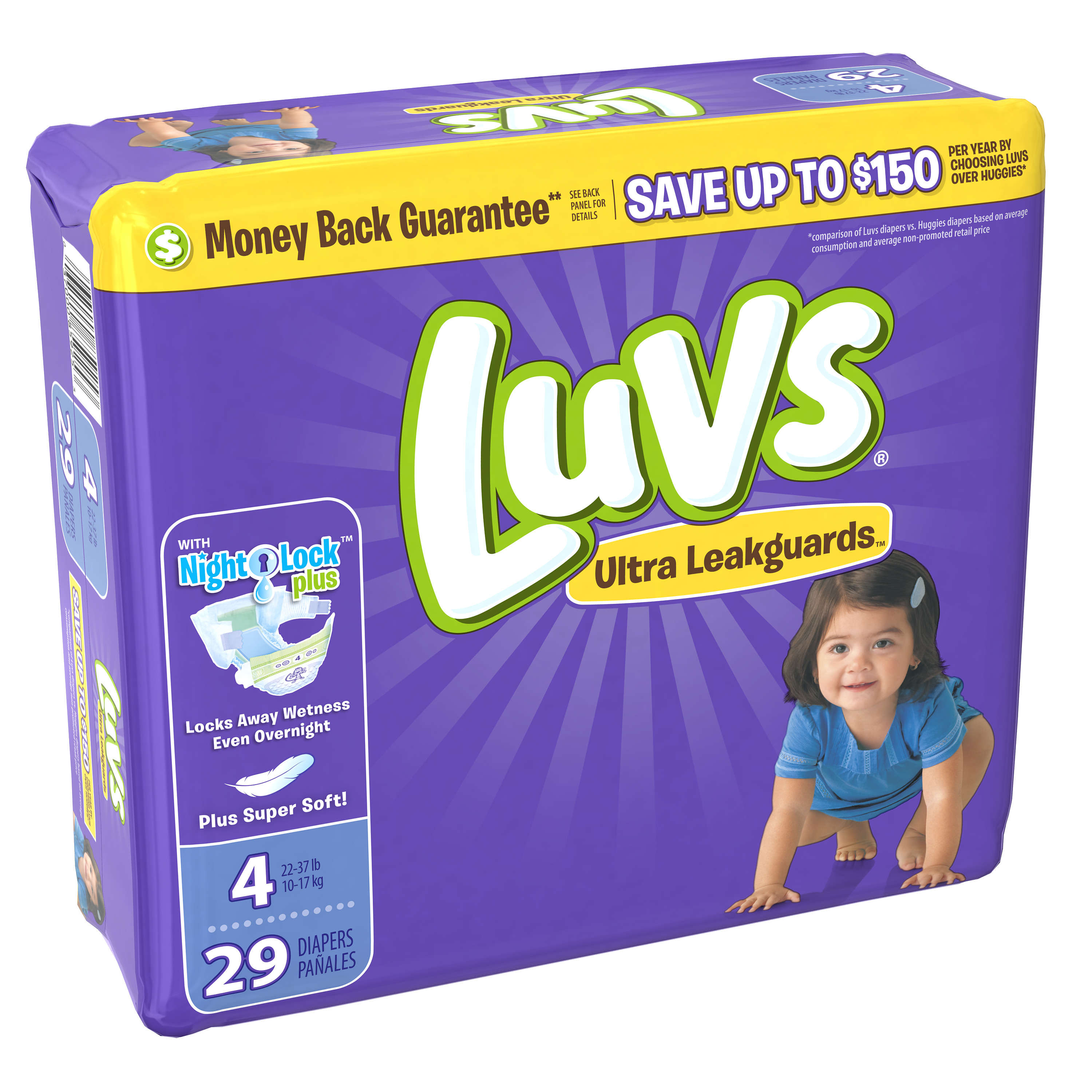 Luvs Ultra Leakguards Diapers Size 4 29 count