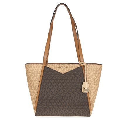 Michael Kors Whitney Signature Logo Tote - - Brown Suede Tote