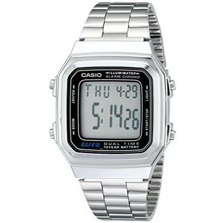 CASIO DUAL TIME ILLUMINATOR SILVER WATCH A178W-1