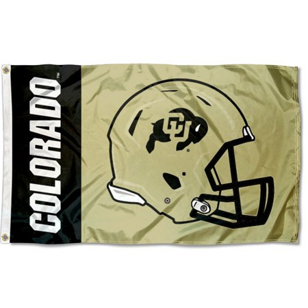 University of Colorado Buffaloes Football Helmet Flag