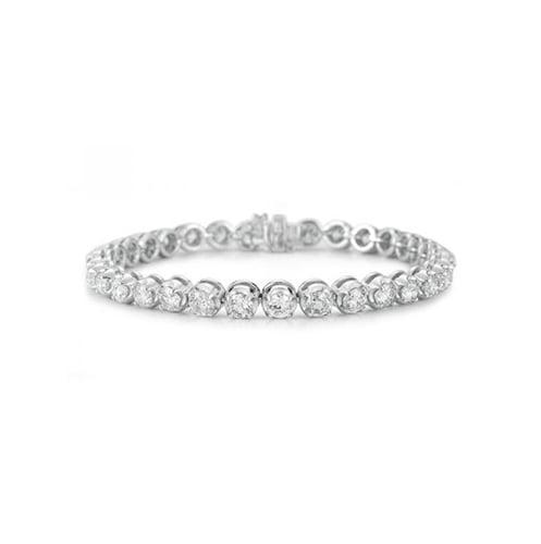 14K White Gold Diamond Tennis Bracelet with 4.00CT of Diamonds by Luxsly