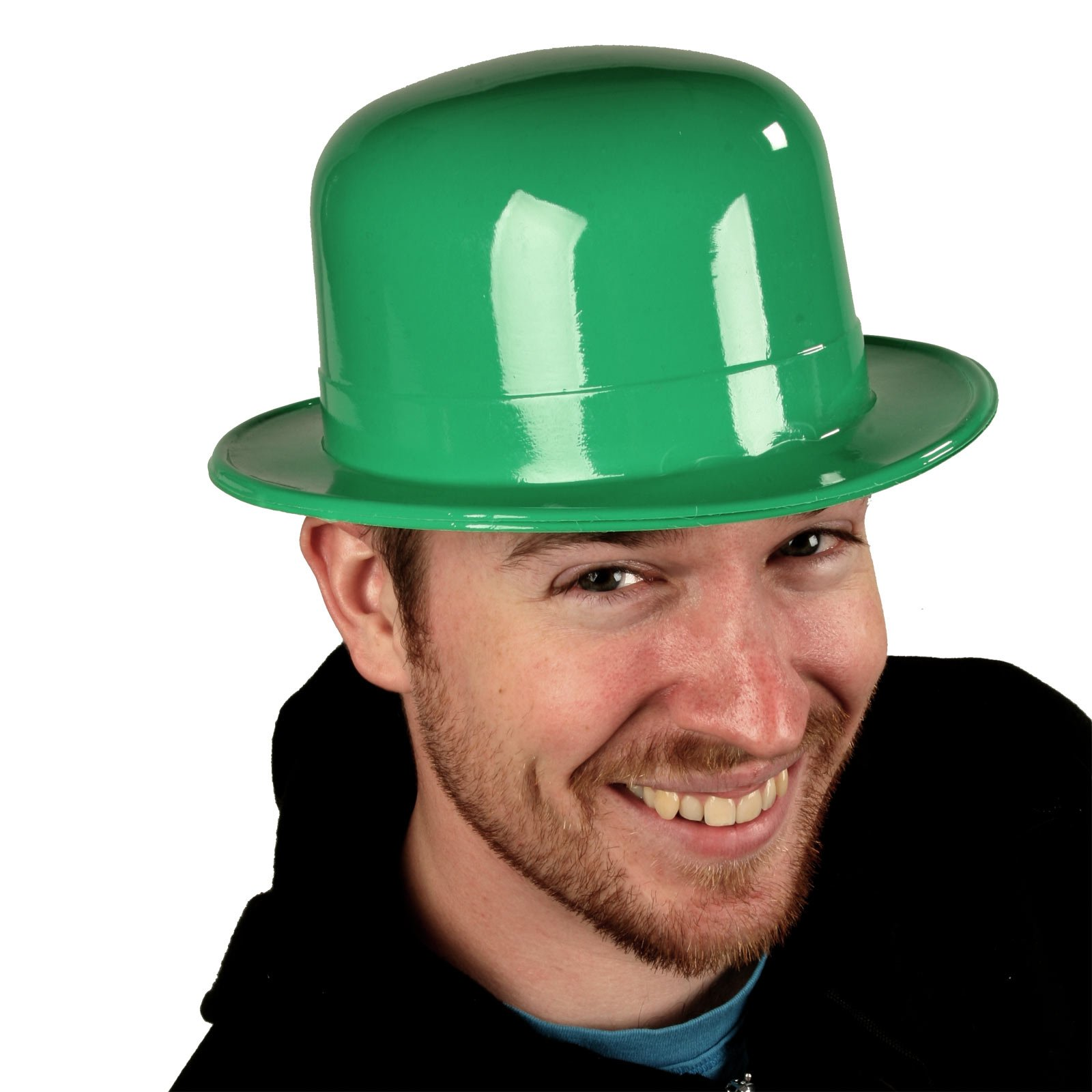 St Patrick's Day Party Favor Plastic Derby Hat, Get Your Green On, One Size