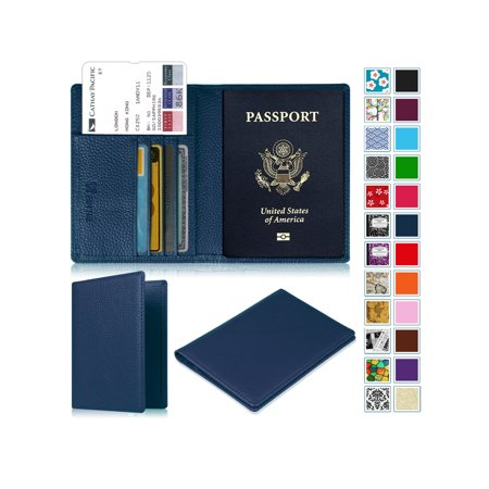 Wallet Case Cover (Fintie Passport Holder Travel Wallet RFID Blocking Case Cover - Securely Holds Passport, Boarding)