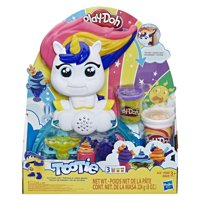 Play-Doh Tootie the Unicorn Ice Cream Set with Color Swirl Compound