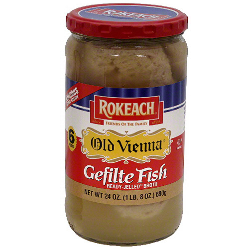 Rokeach Old Vienna Jelled Gefilte Fish, 24 oz (Pack of 6)
