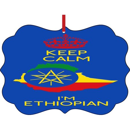 Flag Ethiopia Keep Calm I M Ethiopian Double Sided Elegant Aluminum