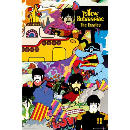 Christian Music Posters - The Beatles - Music Poster / Print (Yellow Submarine) (Size: 24
