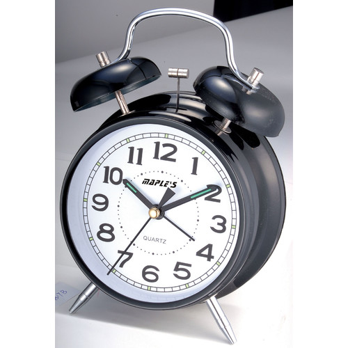 Maples Clock 4'' Double Bell Alarm Clock