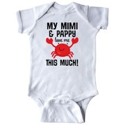Inktastic Mimi and Pappy Love Me Gift Infant Short Sleeve Bodysuit Unisex White 18 Months