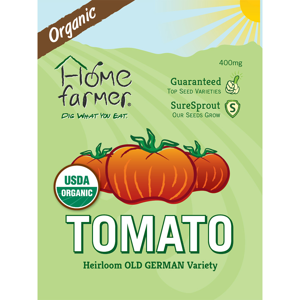 Organic Heirloom Tomato (Old German) Seed Packet
