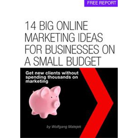 14 Big Online Marketing Ideas For Small Businesses On A Small Budget - eBook (Marketing Ideas For Halloween)