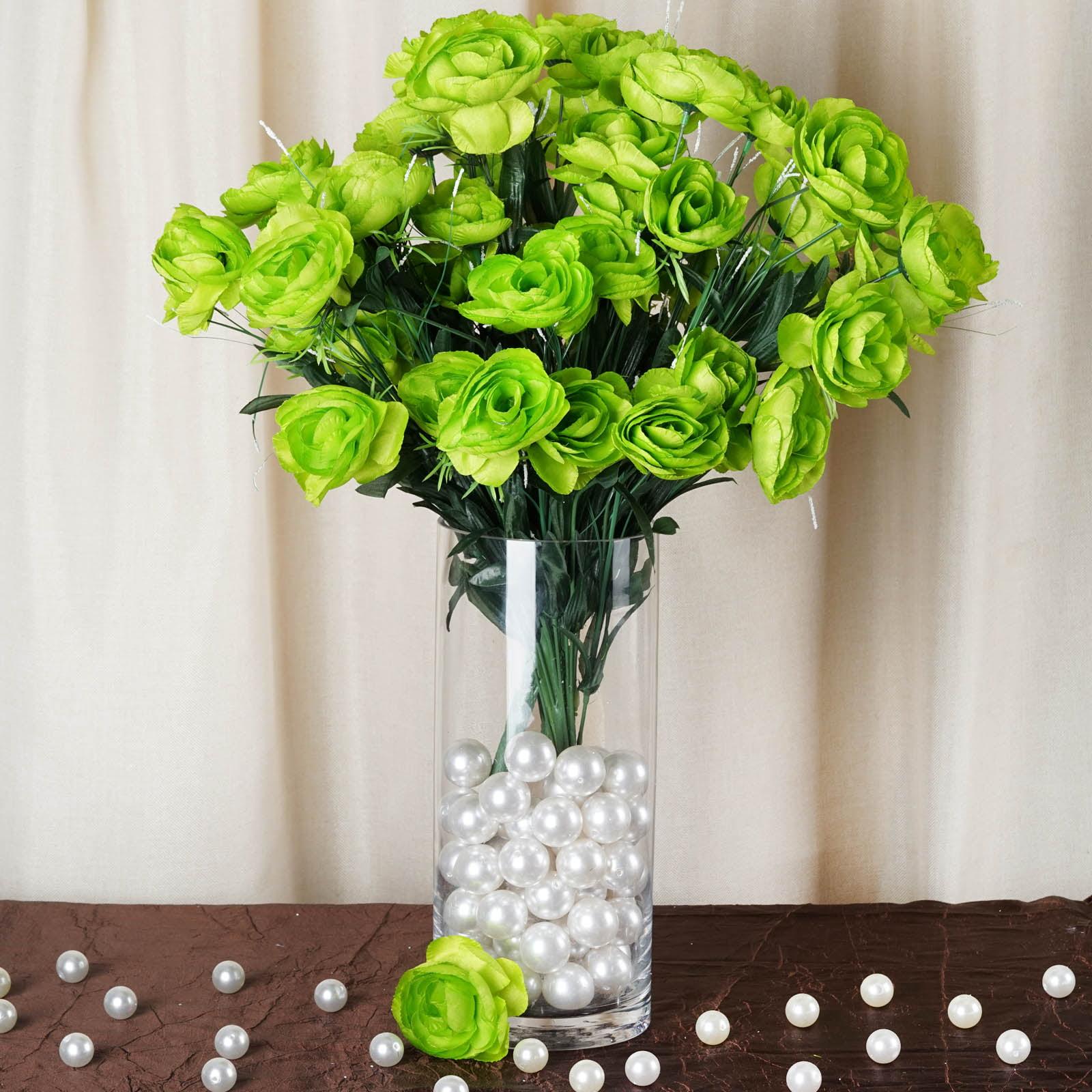 BalsaCircle 72 Silk Ranunculus Artificial Silk Flowers - DIY Home Wedding Party Bouquets Arrangements Centerpieces