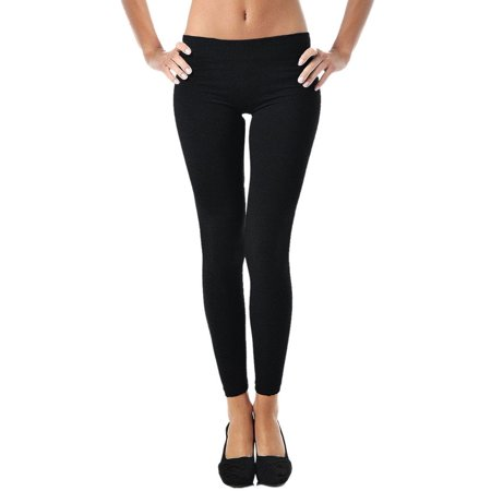 Leggings for Women   Comfy Cotton Leggings w/ Elastic Comfort Waist -Mato &
