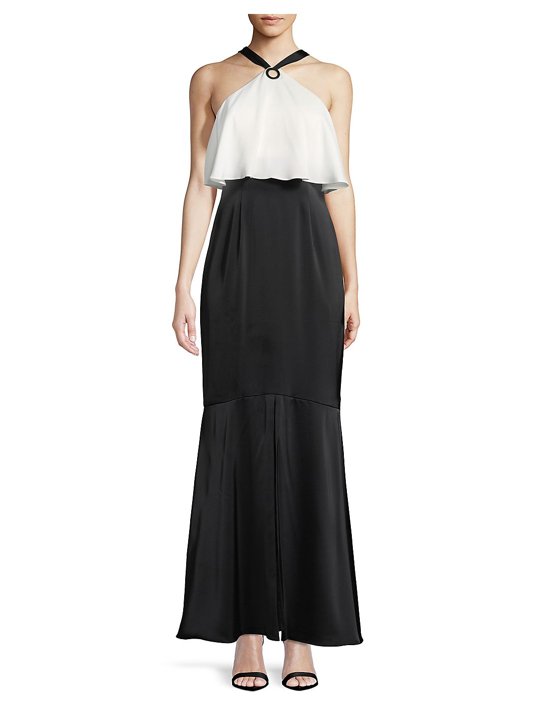 Charmeuse Long Halter Dress