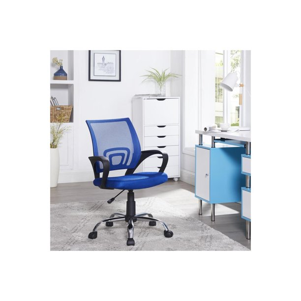 Naomi Home Ivana Swivel Mesh Office Chair -Color:Blue