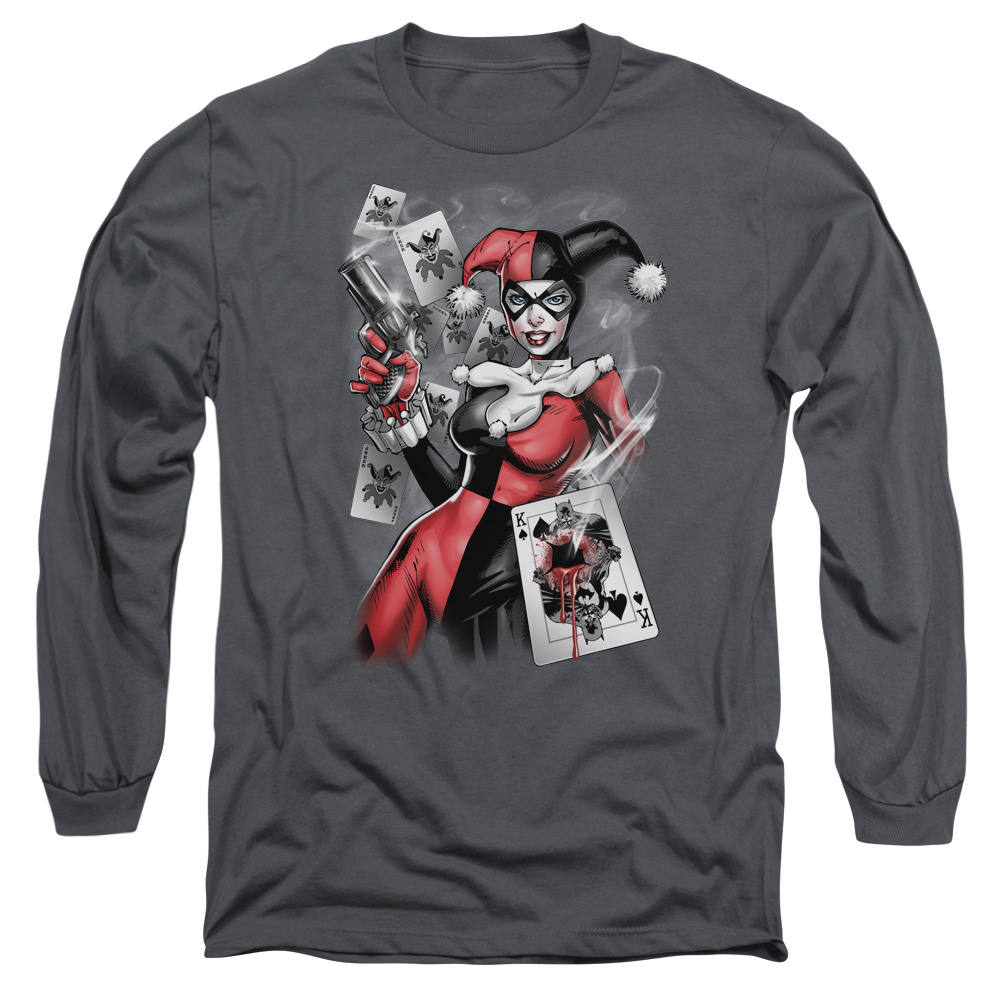 BATMAN/SMOKING GUN-L/S ADULT 18/1-CHARCOAL-MD