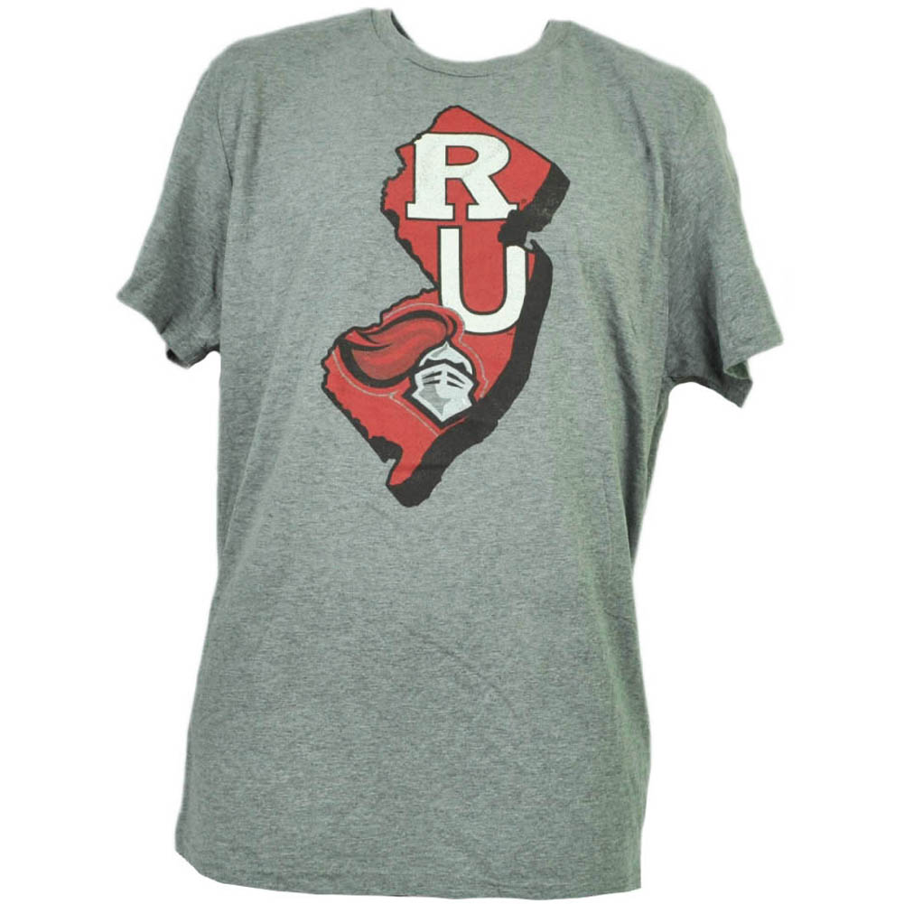 NCAA Rutgers Scarlet Knights State Map Logo Tshirt Tee Mens Short Sleeve Medium