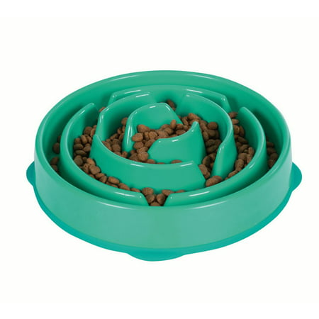 Slow Feeder Dog Bowl Fun Feeder Stop Bloat Bowl for Dogs by Outward Hound, Large, -