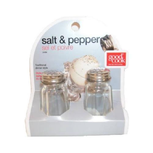 BRADSHAW INTERNATIONAL 24084 Glass Salt/Pepper Set