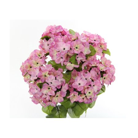 JenlyFavors 22 Inch X-Large Satin Artificial Hydrangea Silk Flower Bush 7 Heads Orchid Cream ()