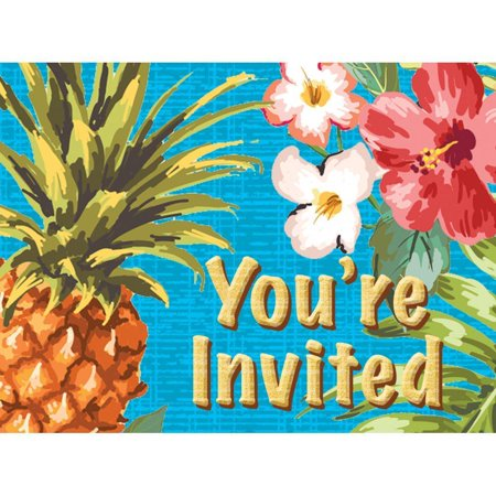 Creative Converting Aloha Invitations, 8 - Aloha Invitations