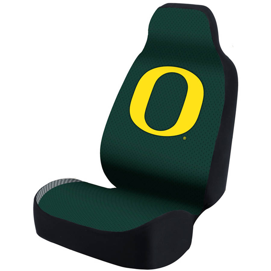 Coverking Universal Seat Cover Designer, University Of Oregon, Green Weave Stripe Bottom Solid