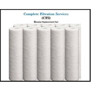 """Fits Brio 12 Pack of 5 Micron Sediment Filters 10"""" (2.5"""" x 10"""") For Standard 10 inch Filter Housings by CFS"""