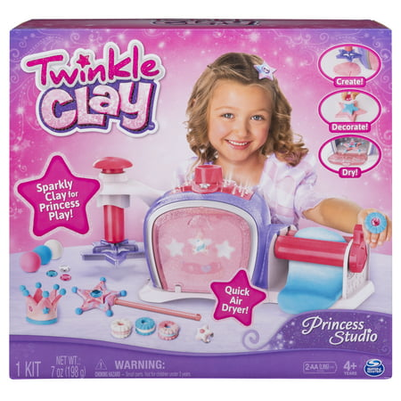 Twinkle Clay - Princess Studio, Makes Sparkly Air-Dry Clay Creations, for Ages 4 and Up