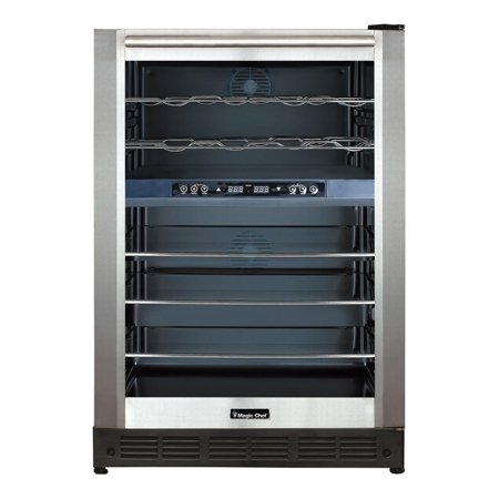 Magic Chef Dual Zone Built-in Wine and Beverage Cooler, 39 Degree Dual Zone Wine Cooler Reviews