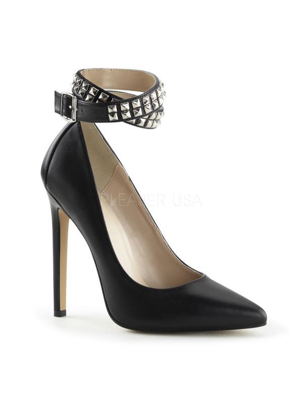 "SEXY24/BLE Pleaser Single Soles 5"" Heel Shoes Blk Le Size: 9"