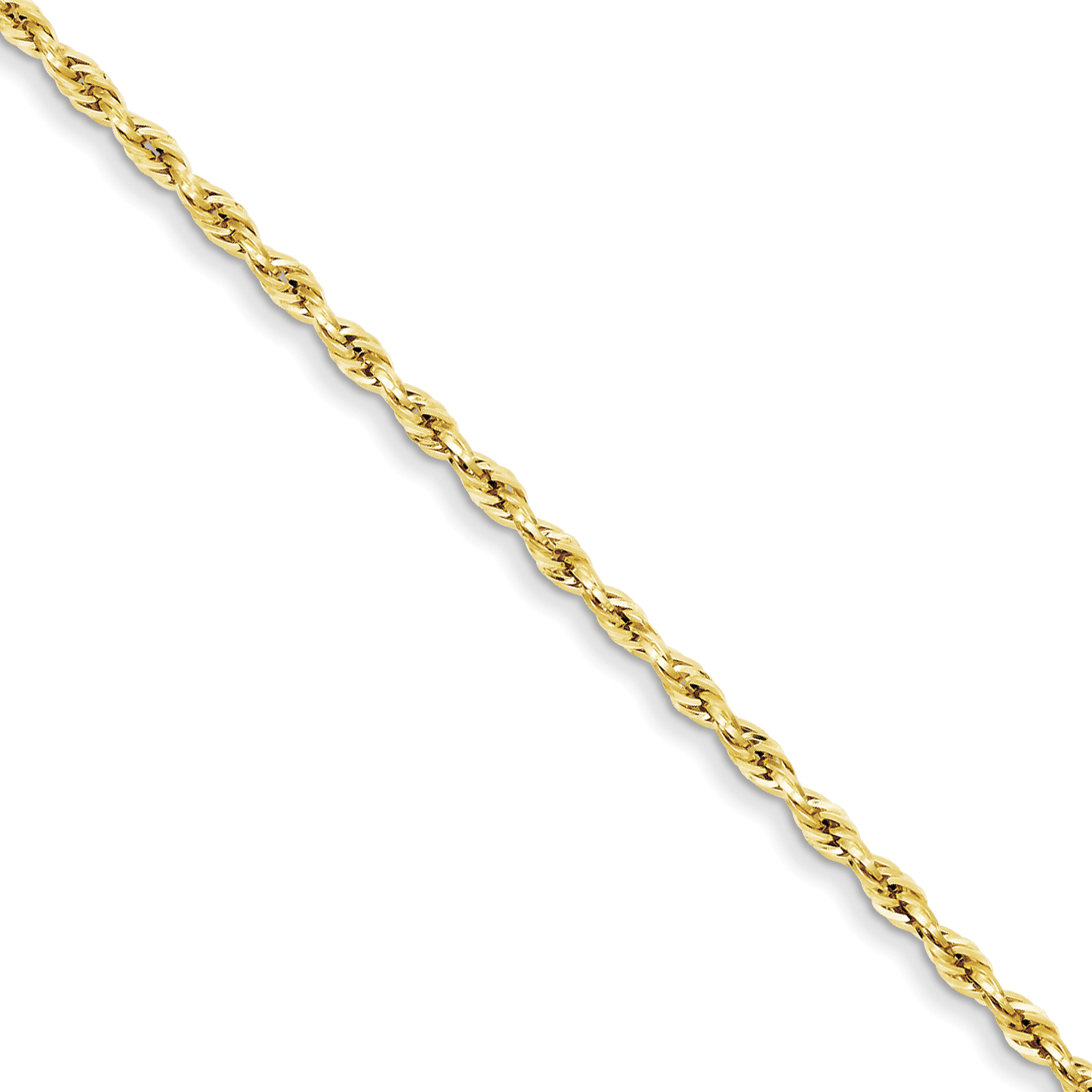 "14ky 2.8mm Hollow Rope Chain 7 Inch ""Bracelets - image 4 de 4"
