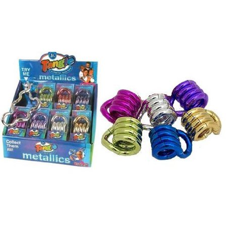 Set Of 6  Tangle Jr Metallic Fidget Toys