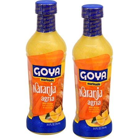 Goya Marinade Bitter Orange, Naranja Agria 24.5 Oz (Pack of 2)