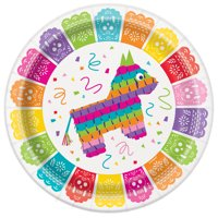 Mexican Fiesta Paper Dinner Plates, 9in, 24ct