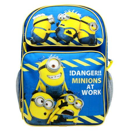 Backpack - - Danger Minions at Work Blue 16 bag New (Best Work Backpack Mens)
