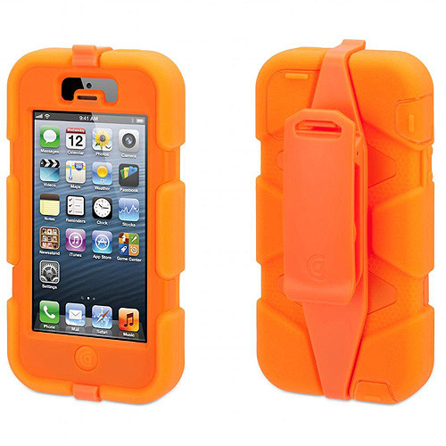 Fluoro Orange Heavy Duty Survivor Case for Apple iPhone 5/5s iPhone SE