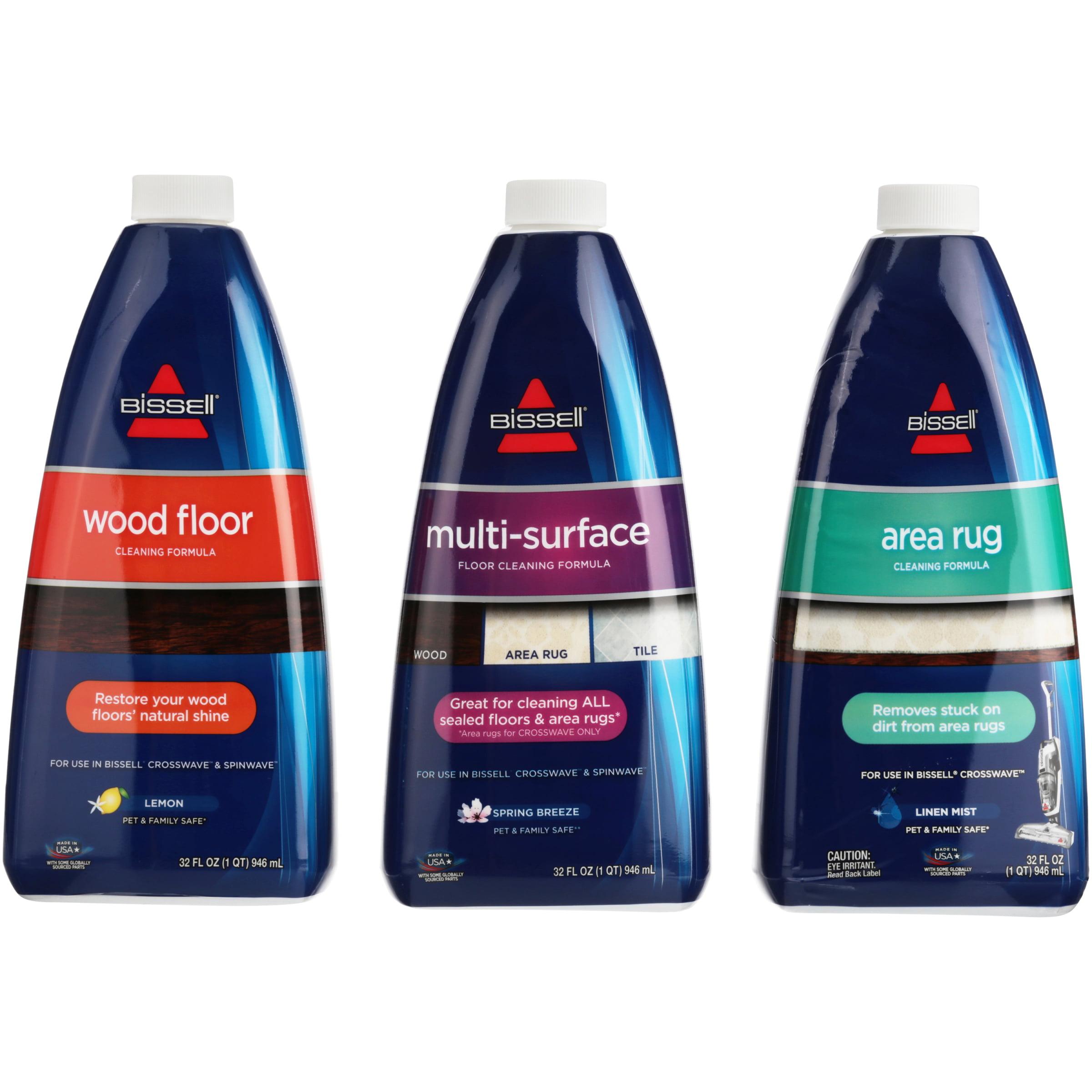 Bissell® Wood Floor, Multi-Surface Floor & Area Rug Cleaning Formula Variety Pack 3-32 fl. oz. Bottles