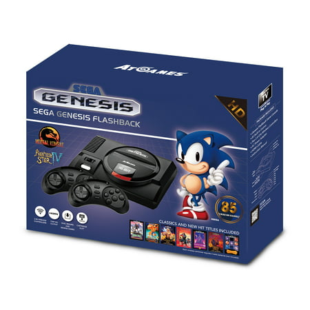 Sega Genesis Flashback HD, 85 Built-In Games, ATGAMES, REFURBISHED/PREOWNED (Sega Genesis Games)