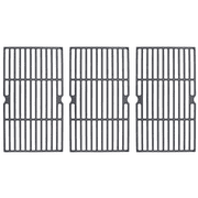"BBQ Replacement Part: Porcelain Cast Iron Set of 3 Cooking Grates Measure 16 13/16"" x 28 1/2"" for Backyard Grill Models GBC1748WRSE-C, GBC1848WBSE-C and GBC1848W-C"