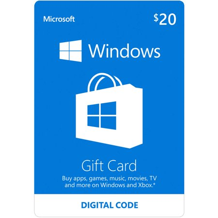 Microsoft Windows Store Gift Card $20 (Digital Code)