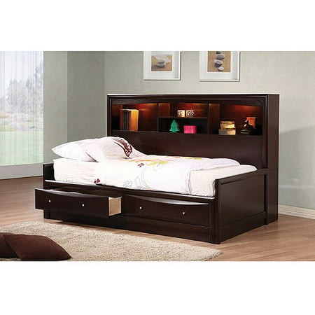 Coaster Phoenix Full Daybed with Storage, Cappuccino (Halloween Store Phoenix)